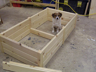 Wooden Dog Puppy Whelping Box Bed Very High Quality 3 Sizes  • 56.77£