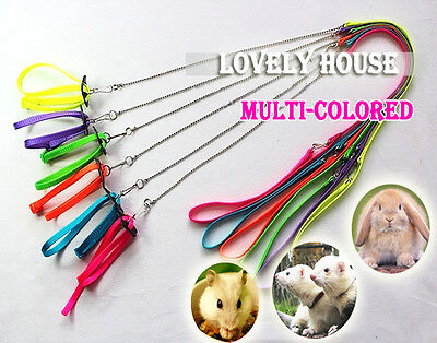 £2.49 • Buy Adjustable Ferret Harness/Baby Rabbit/Hamster Rat Mouse Leash Lead With Bell