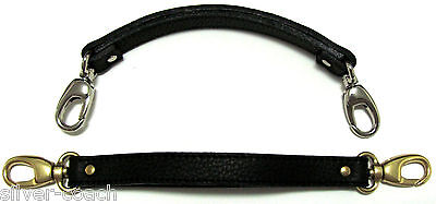 1/2  Genuine Leather Replacement Handbag/Brief LOBSTER Clasp Handle Hand Strap • 17.36£