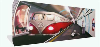 £22 • Buy Canvas Wall Art Print Of Retro VW Campervan Tube Camden Town Picture Framed