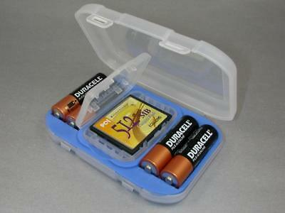 AU6.41 • Buy Battery Case Holder Fits 4 AA Case  & Compact Flash CF Card + Engraved Nameplate