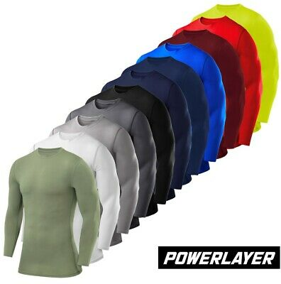 Mens Boys Body Armour Compression Baselayers Thermal Under Shirt Top Skins • 12.99£