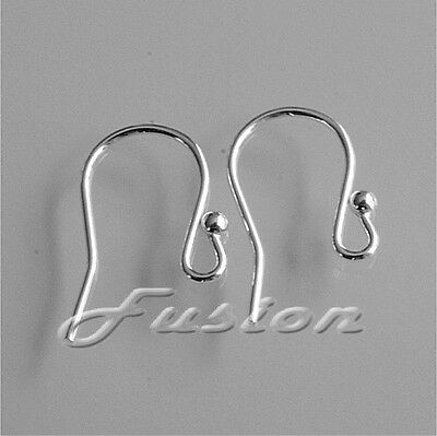QUALITY .925 Sterling Silver Earring Ear Fish Hook Wires French Fittings Finding • 2.95£