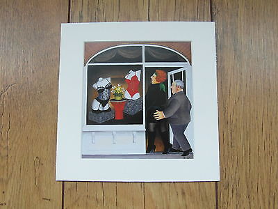 Beryl Cook Lingerie Shop  Mounted Card 8 X 8 Funny • 5.50£