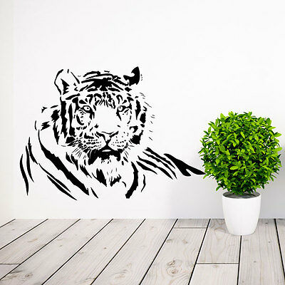 Large Tiger Cat Wild Animal Vinyl Wall Sticker-Decal Bedroom Lounge Home Decor • 12.47£