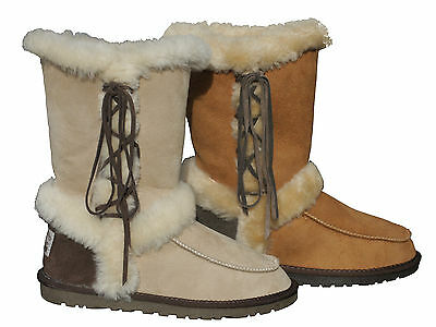 AU114.95 • Buy 100% Australian Twin-Face Sheepskin Ugg Boots With Laces Sizes 5-10 Women Ladies