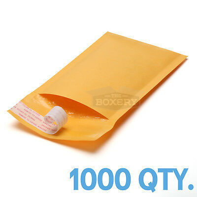 $72.50 • Buy 1000 #000 Kraft Bubble Padded Envelopes Mailers 4 X 8 From TheBoxery