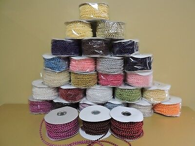 $6.99 • Buy 24 YARDS 4MM FAUX PEARL PLASTIC STRING ROLL Pick Colors Ivonne's Party Creations