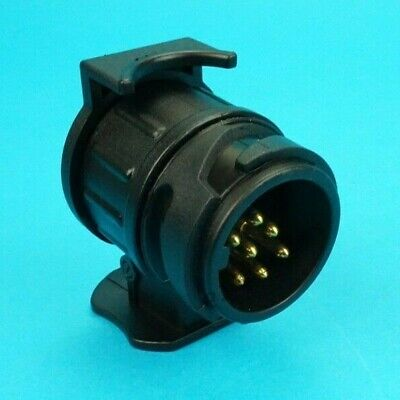 Conversion Adaptor For 13 Pin Socket On Vehicle To 7 Pin Plug On Trailer • 8.85£