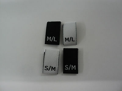 Woven Clothing  Size Labels / Sizes (S/M) & (M/L)  • 2.04£