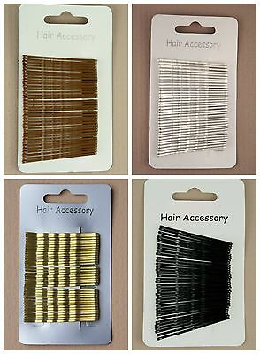 £2.15 • Buy Card Of 36 Hair Grips Blonde Brown Black Bobby Pins Kirby Grips Slides Clips