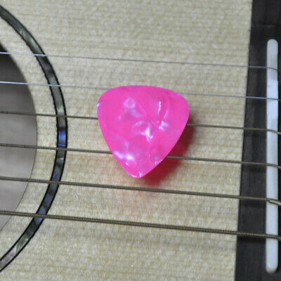 $ CDN11.99 • Buy 100pcs Thin 0.46mm Blank Guitar Picks Celluloid For Acoustic Guitar Pearl Pink