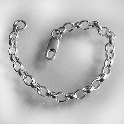 £6.49 • Buy HEAVY 925 Sterling Silver Necklace Necklet Extender Safety Chain 1 Lobster Clasp