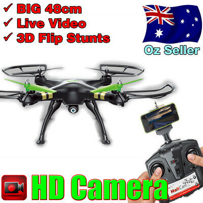 AU79 • Buy BIG RC Remote Control Drone Quadcopter With Video Camera | Smart Phone Connect