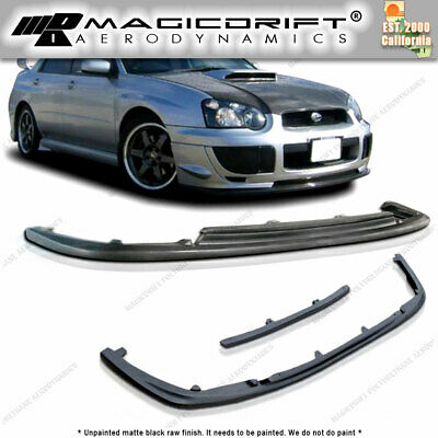 $66.88 • Buy For 04-05 SUBARU IMPREZA WRX STI STYLE FRONT BUMPER CHIN LIP PU Body Kit JDM