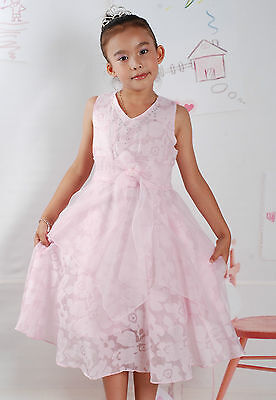 New Flower Girl Party Bridesmaid Wedding Pagent Dress In 5 Colour  From 7-12Year • 16.99£