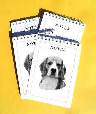 Beagle Pack Of 4, A6 Dog Notepads Gift Set • 4.99£