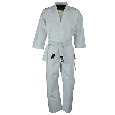 £12.49 • Buy Playwell Childrens Kids White Polycotton Karate Suit 7oz Uniform Outfit Gi