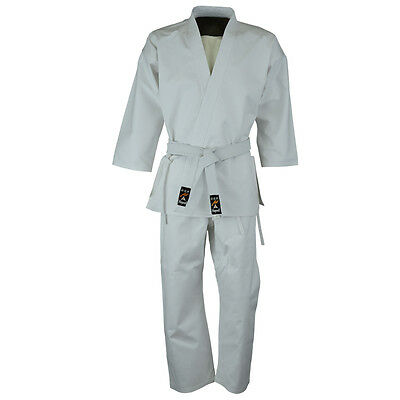 £16.99 • Buy Playwell Beginners White Karate Students Uniform Adults Suits Cotton Gi Outfit
