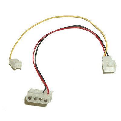 $2.95 • Buy Power Cable Adapter 4 Pin To 3 Pin Fan Cable With RPM Sensor Connector