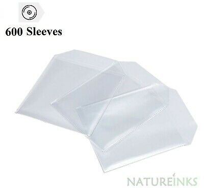 £14.99 • Buy 600 High Quality THICK 120 Micron Clear Plastic CD DVD Sleeves Side STITCH NEO