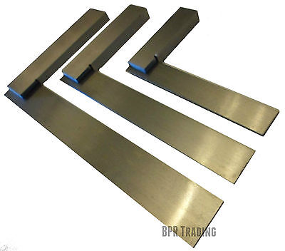4  (100mm) Or 6  (150mm) Or 8  (200mm) Engineers  Polished Try Steel Set Square  • 4.99£