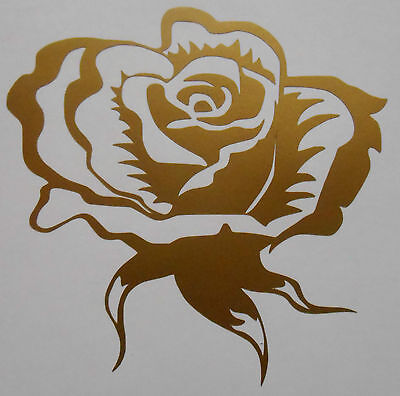 1,2,4,6 Or 12 X Fancy Rose Flower Tile, Wall, Window Stickers /Decals /Transfers • 3.10£
