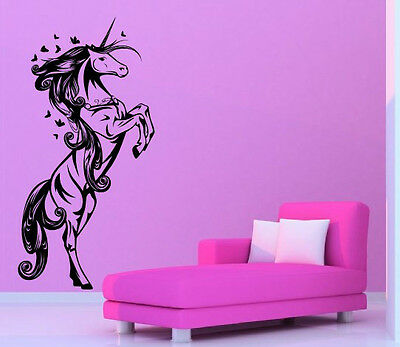 Fabulous Unicorn Wall Sticker Nursery Kids Room Decal High Quality 60cm X 120cm • 18.99£
