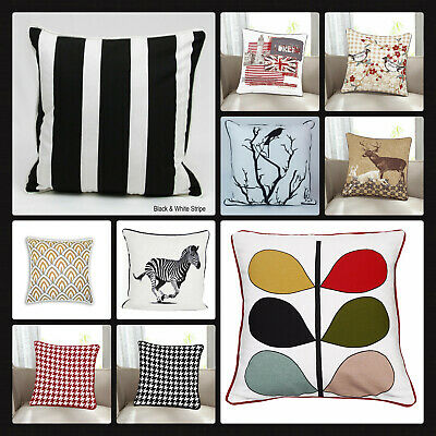 £3.59 • Buy New 100% Cotton's Designer Inspired Stripe  Luxury Cushion Covers Size 18 X18