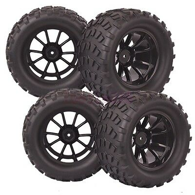 4PCS RC 1/10 Monster Bigfoot Off-Road Truck Foam Rubber Tyre Tire 88036 HSP • 21.10£