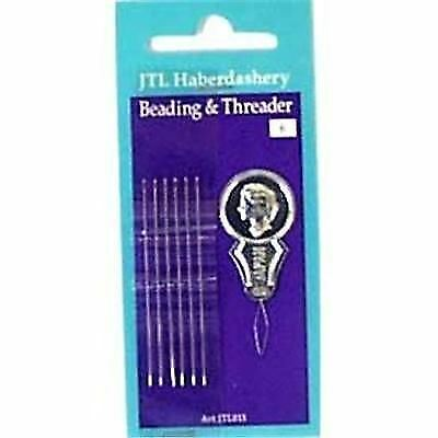 £1.75 • Buy Pack Of 6 Beading / Sewing Needles With Threader