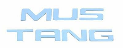 $49.95 • Buy Polished Stainless Bumper Insert Letters, Compatible With Ford Mustang 1999-2004