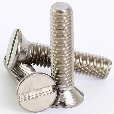 £1.79 • Buy M3 M4 M5 A2 Stainless Slotted Countersunk Machine Screws Slot Csk Screw Din963