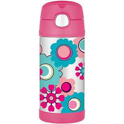 AU26.95 • Buy THERMOS Funtainer Stainless Steel 355ml Vacuum Insulated Beverage Bottle Flower!