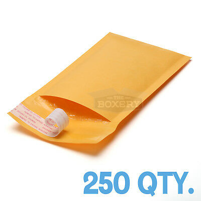 $27.50 • Buy 250 #000 Kraft Bubble Padded Envelopes Mailers 4 X 8 From TheBoxery