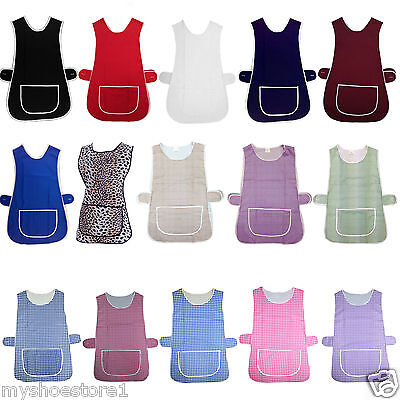 Premium Overall Tabard Chef Kitchen Catering Cleaning Bar Tabbard Apron Pocket • 5.99£