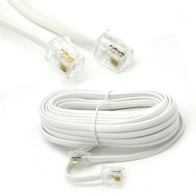 £3.75 • Buy 15m ADSL / DSL Broadband Modem Cable RJ11 To RJ11 Internet Router Phone Cable