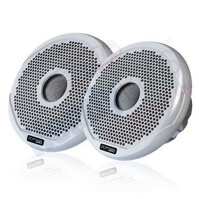 Fusion Ms-fr6021 Marine 6  2-way 200w Speakers Boat Audio White & Black Grilles • 89.99£