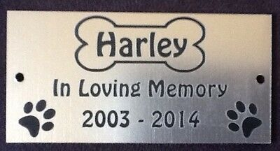 £7.95 • Buy Personalised Pet Dog Memorial Plaque - Various Colours