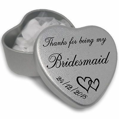 Luxury Personalised Wedding Gifts For Guests Keepsake And Momento Special Day • 3.47£