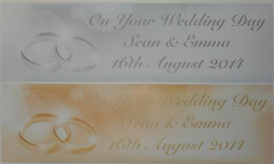 Personalised Wedding Day Large Paper Banner With Wedding Rings Image  • 5.50£