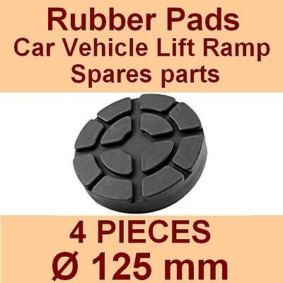 SET OF 4 PADS Ravaglioli 2 Post Car Lift Ramp Rubber Pads - 125mm -Made In Italy • 24.70£