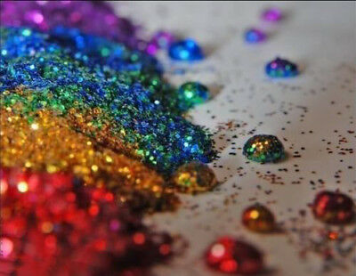 50g Glitter - Iridescent & Holographic .008 Ultra Fine Craft Wine Glass Nail Art • 5.99£