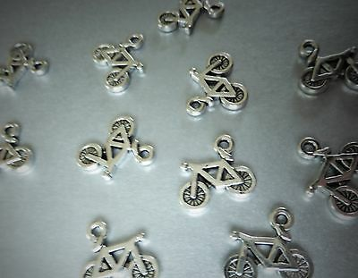 Bike Charm Pendant, Bicycle, Tibetan Silver Coloured Jewellery Choose 5,10 • 2.99£