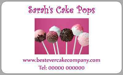 Homemade Cake Pop Stickers Personalised Labels For Bags Or Boxes • 2.50£