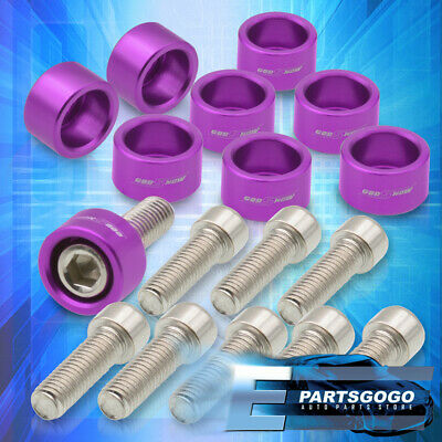 $16.99 • Buy For Honda Acura Replacement Exhaust Header Manifold M8x1.25 Washer Bolts Purple