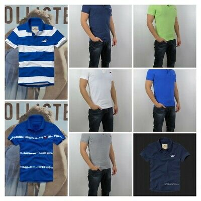 AU35.36 • Buy NWT HOLLISTER Men Muscle Fit Shaw Cove Boneyard Beach Polo Shirt By Abercrombie