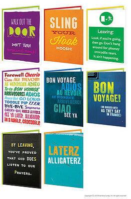 Leaving Work Job Bon Voyage Goodbye Good Luck Greeting Card Funny Comedy Humour • 3.50£