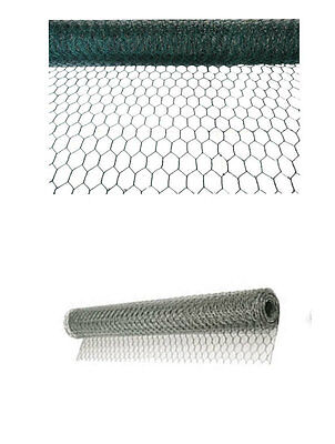 Galvanised Wire Netting Chicken Rabbit Garden Diy Mesh Fencing Farm Roll Barrier • 20.29£