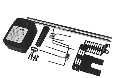 £44.99 • Buy EXTRA QUIET MOTOR BBQ BARBECUE ROTISSERIE SPIT UNIVERSAL KIT 36 Inch SKEWER